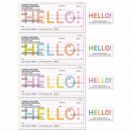 Hello! Single Checks with Matching Address Labels
