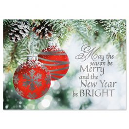 Ornament Wish Foil Christmas Cards - Personalized