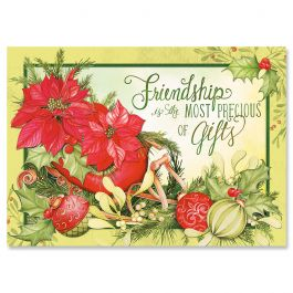 Abundant Friendship Christmas Cards - Personalized