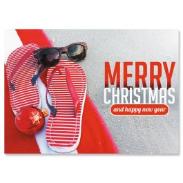 Sunny Holiday Christmas Cards - Personalized