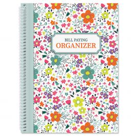Rainbow Daisies Bill Paying Organizer