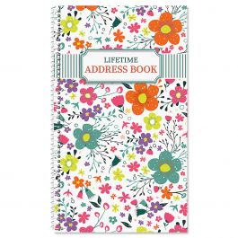 Rainbow Daisies Lifetime Address Book