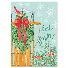 Let It Snow Christmas Cards - Personalized
