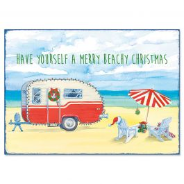 Christmas Beach Christmas Cards - Personalized