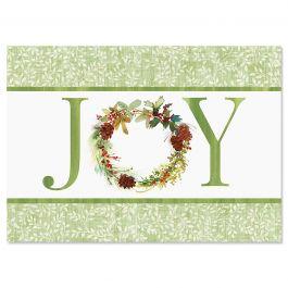 Joy Wreath Christmas Cards - Nonpersonalized