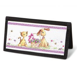 Cats & Dogs Checkbook Cover - Non-Personalized