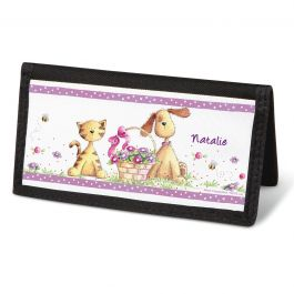 Cats & Dogs Checkbook Cover - Personalized