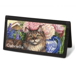 Feline Artistry Checkbook Cover - Personalized