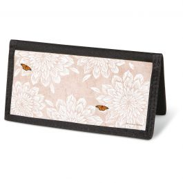 Natural Butterfly Checkbook Cover - Non-Personalized