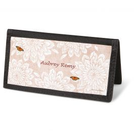 Natural Butterfly Checkbook Cover - Personalized