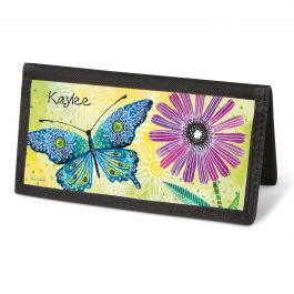 Floral Flight Checkbook Cover - Personalized