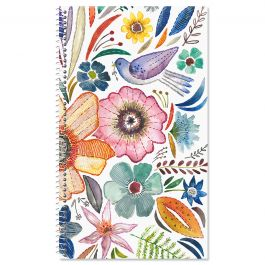 Embroidered Florals Password/PIN Keeper