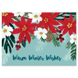 Christmas Bloom Christmas Cards - Personalized