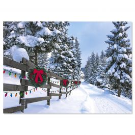 Forest Lane Christmas Cards - Personalized