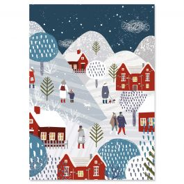 Winter Village Christmas Cards - Personalized