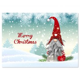 Snowy Elf Christmas Cards - Personalized