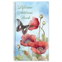 Spring Poppies Lifetime Address Book