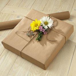 Brown Plain Kraft Jumbo Rolled Gift Wrap