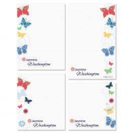 Delicate Butterflies Memo Pad Set