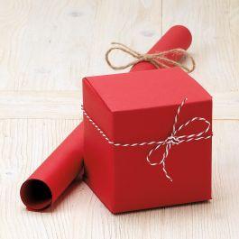 Red Plain Kraft Jumbo Rolled Gift Wrap