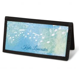 Floral Notes Checkbook Cover - Personalized