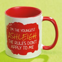 Youngest Child Personalized Mug Rules