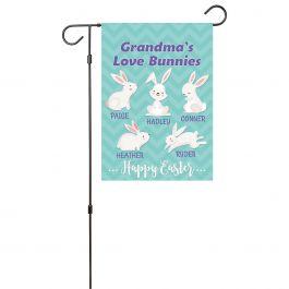 Custom Love Bunnies Garden Flag - 5 Names