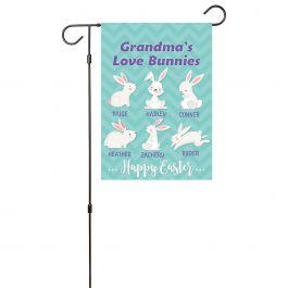 Custom Love Bunnies Garden Flag - 6 Names