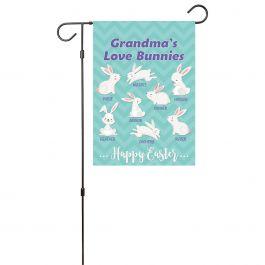 Custom Love Bunnies Garden Flag - 8 Names