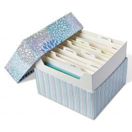 Cool Floral Greeting Card Organizer Box