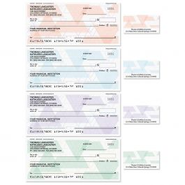 Triangle Print Single Checks with Matching Labels