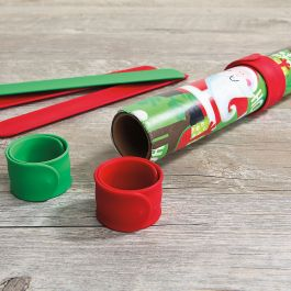 Silicone Christmas Red & Green Flip Wraps - Set of 6