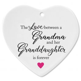 Grandma and Granddaughter Heart Ornament