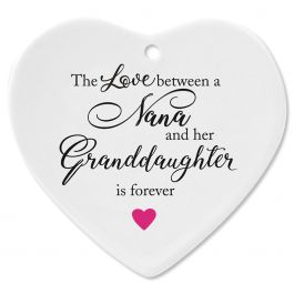 Nana and Granddaughter Heart Ornament