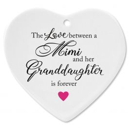 Mimi and Granddaughter Heart Ornament