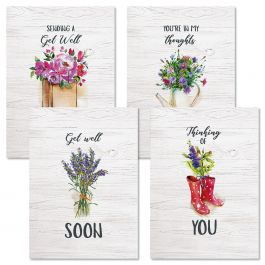 Bouquets Get Well Cards - Set 8
