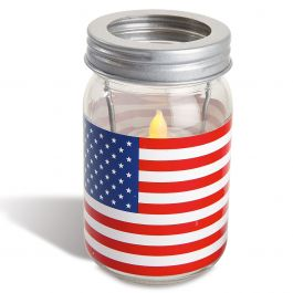 Patriotic Jar Candle Holder - Flag