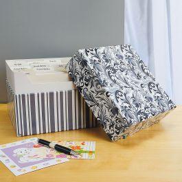Black Elegance Greeting Card Organizer Box