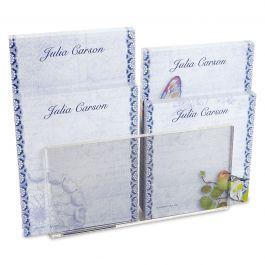 Exotic Prints Custom Memo Pad Set & Acrylic Holder
