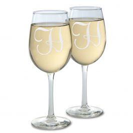 Custom Wine Glass with Initial