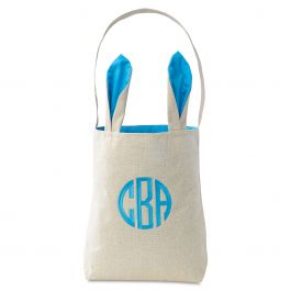Custom Blue Easter Tote with Ears