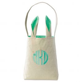 Custom Green Easter Tote with Ears