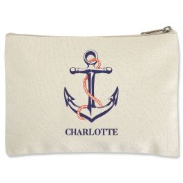 Custom Anchor Zippered Pouch - Small