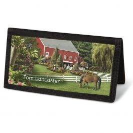 Country Life  Checkbook Cover - Personalized
