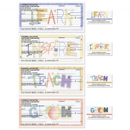 Teacher Single Checks with Matching Address Labels