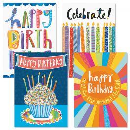 Bright Fun Birthday Greeting Cards - Set 8