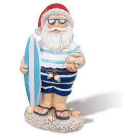 Surfboard Coastal Santa Figurine