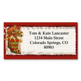 Christmas Stocking Border Address Labels