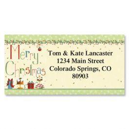 Christmas Treats Border Address Labels