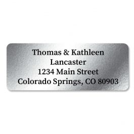 Silver Foil Address Labels - 96 Count Sheets